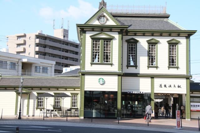 日本のスタバ例②道後温泉駅舎店