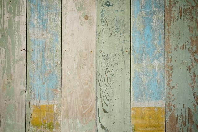 壁×ウッドタイル③:カラフルタイル